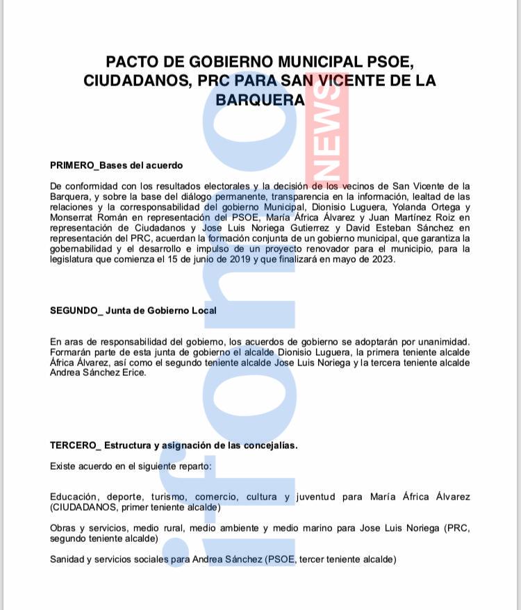 Nisio Luguera Seguirá Como Alcalde De San Vicente Tras Su